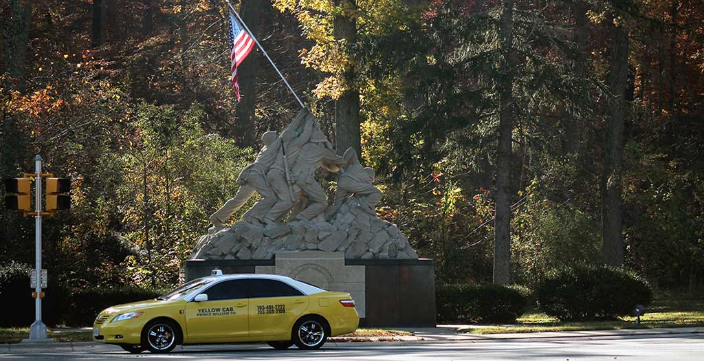 Taxi Cab at Iwo Jima Memorial