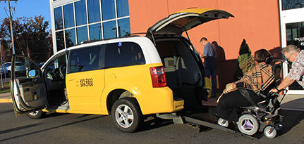 Handicap accessible taxi cab